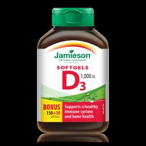 Jamieson Vitamin D 1000 i.e. kapsule